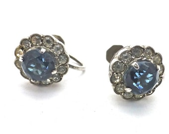 SCP Ciro Sapphire Paste Screw Back Earrings