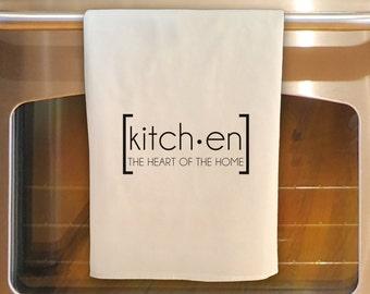 Flour Sack Tea Towel - KITCHEN: HEART of the HOME - Kitchen Towel