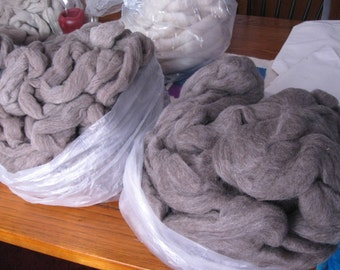 Gray Targhee combed top part 2