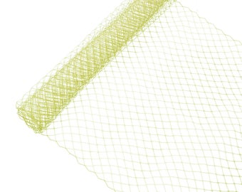 """1 Yard x 10"""" Gold Russian Millinery Birdcage Veil Netting - Available in 15 Colors"""