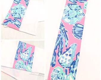Burp Cloth set in Lilly Pulitzer Barefoot Princess