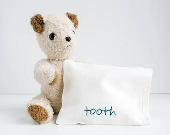 Tooth Fairy Bag. Personalized Tooth Fairy Letter. Tooth Fairy Kit. Custom Embroidery. Kids Gift Under 50. Tooth Fairy Pouch. Baby Gift Set.