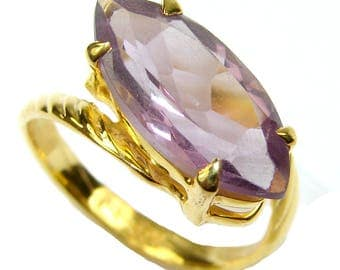 Amethyst Sterling Silver Ring - weight 3.30g - Size 7 1 2 - dim L- 1 2, W -7 8, t -1 4 inch - code 19-lis-15-39