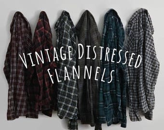Vintage Oversize Flannel Shirt, Distressed Flannels, Bridesmaid Flannel, Flannel Shirt, Oversized Flannels, 90s Grunge Clothing