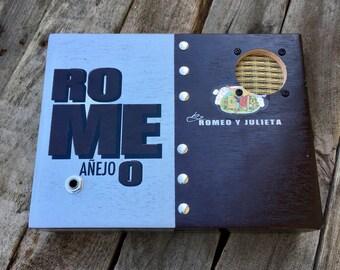Cigar Box Bluetooth Speaker, Guitar Amplifier, Wired Speaker, Handmade Portable Amp - Romeo y Julieta Anejo