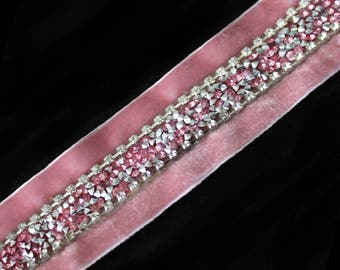Carmalita Pink Diamonte Choker