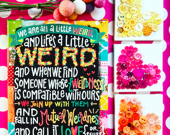 Dr Seuss quilted canvas
