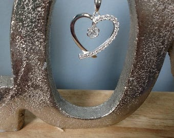 MADE TO ORDER!!!! Sterling Silver Heart Pendant-- Made to order with your pearl from the Pearl Party!!