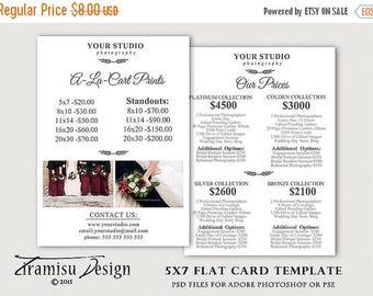 ON SALE Wedding Photography Price Guide, Photography Pricing Guide ,Wedding Price List Photosop Template, sku 33-2