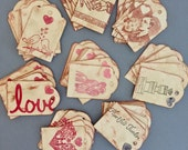 Vintage Style Assorted Wedding Favor Tags Gift Tags Party Tags Distressed Tags Rustic Place Cards Thankyou Tags