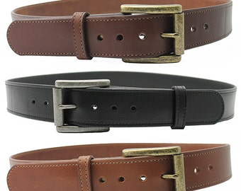 "1 1/2"" Genuine Leather Belt, Removable Buckle, Dress Belt, Christmas gift, Father's Day, Big Belt and Tall, Personalized Free"
