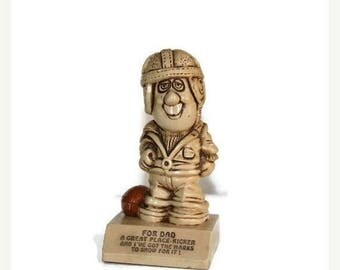 1970S, Dad, Great dad statue, A Great Place Kicker, Football Figurine, Vintage football player, 1970s Statue, Football Player