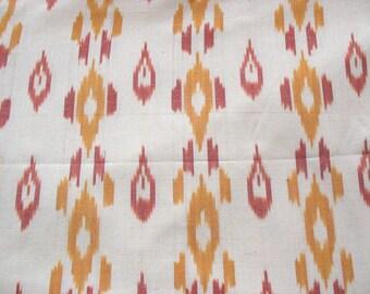 "56"" Wide Ikat  Upholstery Fabric Medium Weight Ikat Fabric Yarn Dyed Throw Pillow Cushion Home Decorating Fabric"