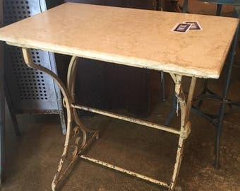 Marble Top French Bistro Table
