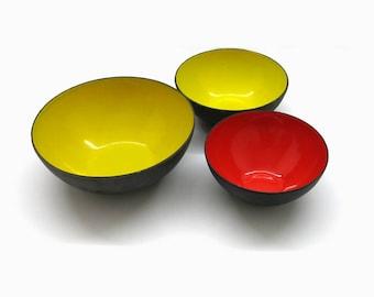 Krenit Bowl Set | Design Herbert Krenchel |  50s Mid Century Design | Denmark