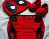 Deadpool Crochet Beanie