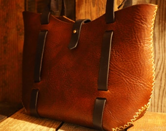 The Harriet - Chestnut Brown with Chocolate Brown Straps