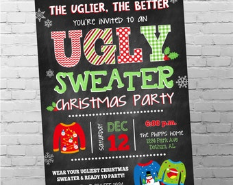 Ugly Sweater Invitation | Ugly Christmas Sweater Party | Ugly Sweater Party | Ugly Christmas Sweater Invitation | Digital Invitation