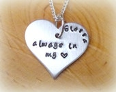 Dog Memorial Necklace, Personalized Pet Memorial Jewelry