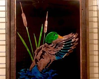 Framed Mallard
