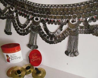 Belly Dancer Bellydancing Belly Chain Belt India Silver Hippy Bells The Art of Belly Dancing Kit Body Stickers Bindi Tribal Jewelry Harem
