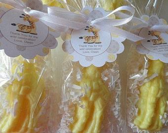 10 Giraffe Party Favors, Giraffe Soap, Showers, Children, Birthdays, Special Occasions