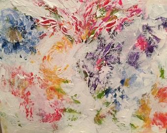 Original 16 x 20 Faded Flowers