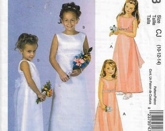 McCall's M4763 Size 10-12-14 Special Moments Girls' Dresses Sewing Pattern 2005 Uncut