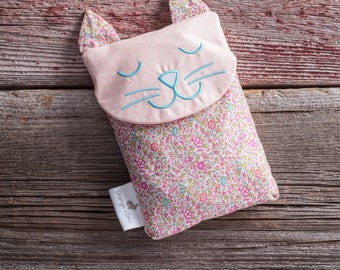 Boo boo bag, baby care, hot bottle, liberty cat, unisexe nursery, baby gift, baby shower, rice bag, hot cold therapy, christening, shower,
