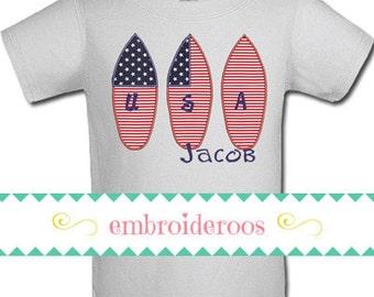Patriotic Surfboard