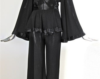 Vintage Ossie Clark - 1970's Rock Star Pantsuit - extremely rare