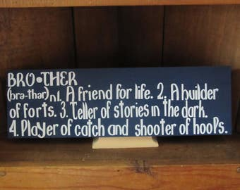 "Brother description sign 5.5 ""X 18 """