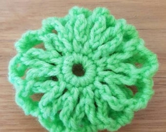 Hand crochet hair bun covers