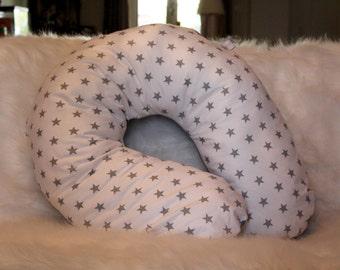Grey & white stars maternity pillow