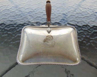 Antique Sheffield Silver Company Silver Plated Silent Butler with Wooden Handle