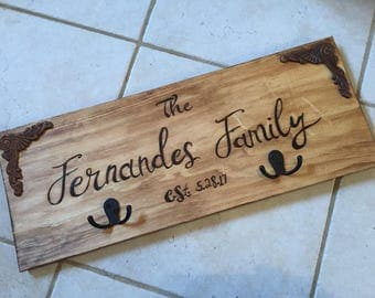 Personalized Name Sign & Hook