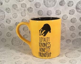 Hufflepuff Mug, Harry Potter Mug, Hogwarts Mug