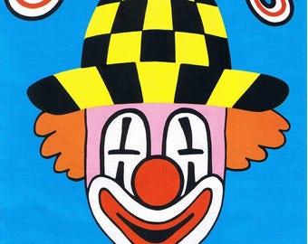 KNITTING PATTERN, VINTAGE Knitting Pattern, Vintage Knitting Booklet, Clown Knitting Pattern, Clowns Knitting Book, Knitted Clowns, Jumpers