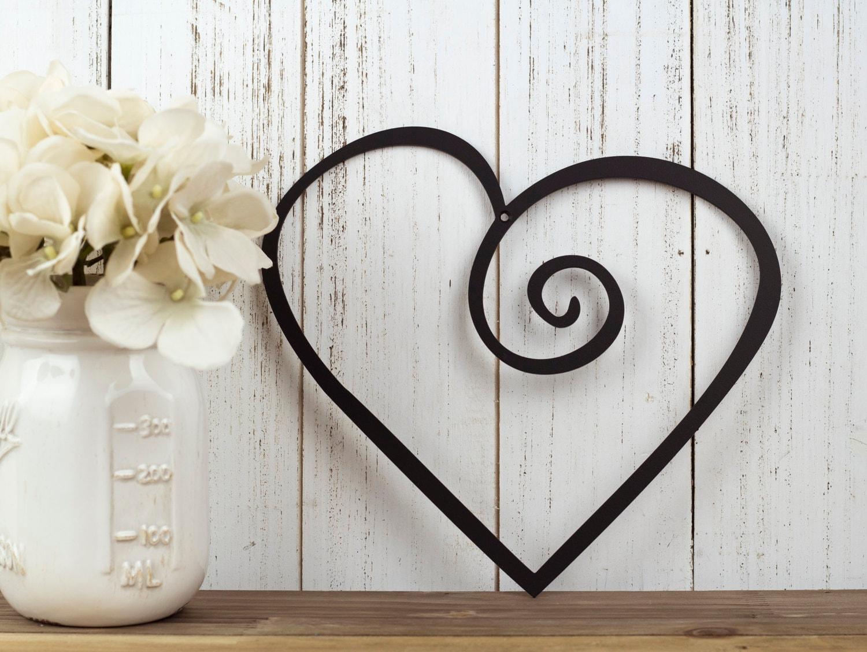 heart metal wall art wedding decor valentine 39 s. Black Bedroom Furniture Sets. Home Design Ideas