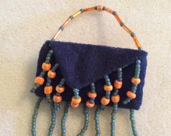 Tiny purse pin brooch