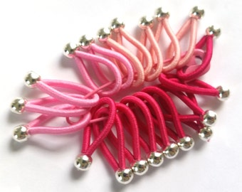 Choose size - soft flexible FLOOPS knitting stitch markers - Shades of PINK