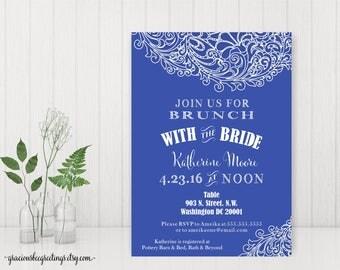 Bridal Brunch Invitations, Bridesmaids Lunch, Bridal Shower Invite, Bridal Tea, Printable Bridal Shower Invite BW12751