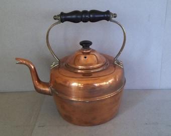 Vintage Copper Tea Kettle - Solid Copper Kettle - Copper Kettle - Copper Teapot