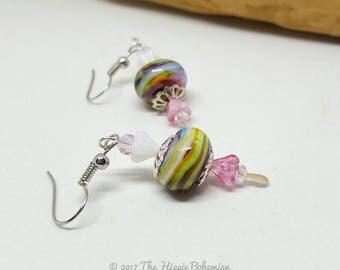 Rainbow Boho Earrings - Rainbow Earrings - Boho Earrings - Handmade Earrings - Gift Ideas