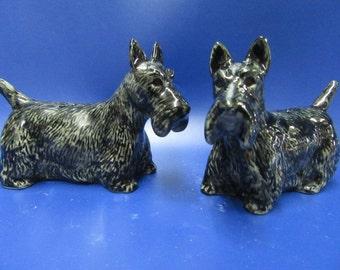 Scottie Dog Salt and Pepper Pots Scottish Terrier Salt and Pepper Set - Gift Boxed