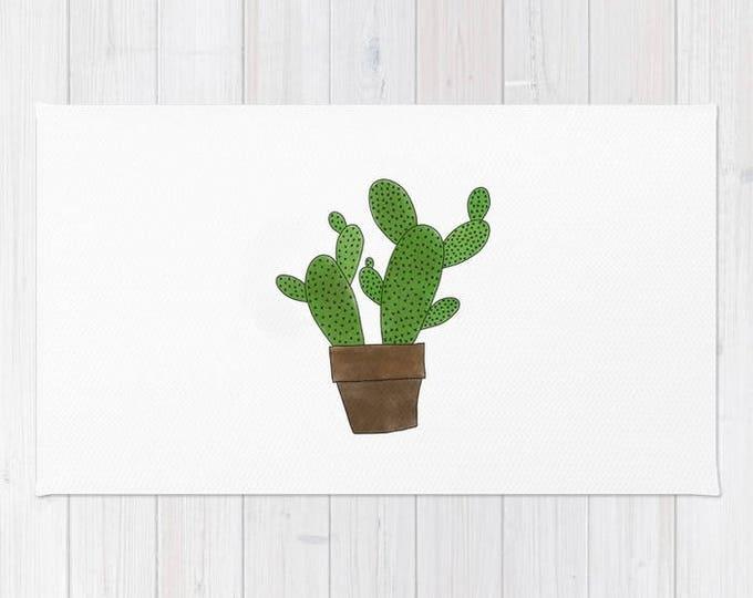 Cactus Floor Rug - Floor Mat - Room Rug - Southwestern Throw Rug - Bathroom Decor - Made to Order