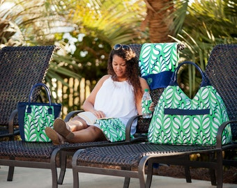 Beach Items in Island Palm Collection...personalized with name or monogram in a choice of fonts. Great as a gift.