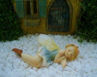 Resting Flower Fairy - Fairy Garden - Terrarium - Miniature Gardening - Craft Supply