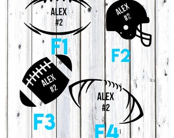 Football decal, Football YETI decal, Football Team Decal, Personalized Football Decal, Custom Football Decal, Vinyl Football Decal
