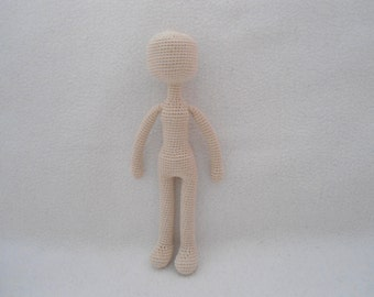 basic doll body crochet pattern ( not include doll's hair)